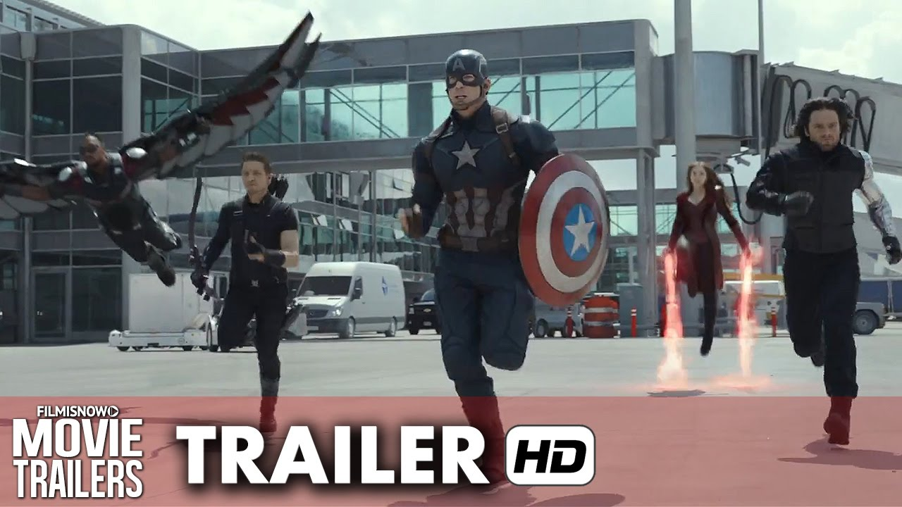 Captain America: Civil War Official Trailer #1 (2016) - Marvel Movie [HD]