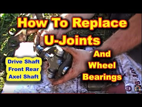 Front U Joint and Wheel Bearing Replacement Dodge Ram 2500 4 wheel drive