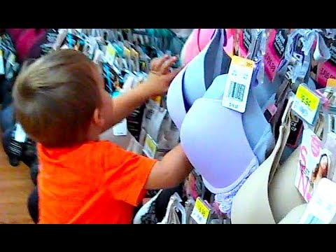 3 YEAR OLD GOES BRA SHOPPING!