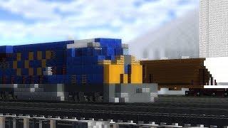 Minecraft North Platte Freight Trains Railfanning Animation