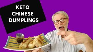 KETO CHINESE PAN-FRIED DUMPLINGS: KETO DIM SUM LOW CARB MOMOS with DIPPING SAUCE