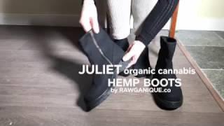 """Women's """"Juliet"""" Handmade Organic Cannabis Hemp Boots  by Rawganique.co"""