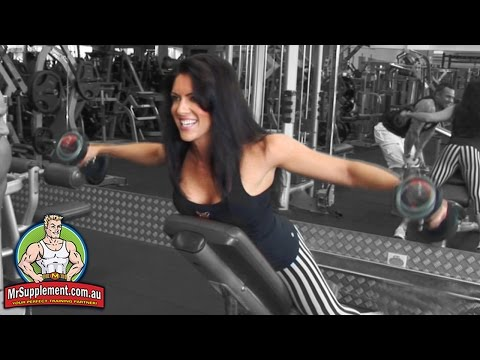 Amanda Latona - Rear Dumbbell Lateral Raise Image 1