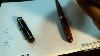 鋼筆比較: Pilot Custom 845 v. Platinum 3776 Briar Wood