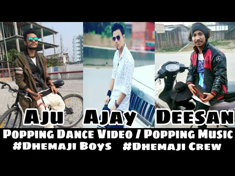 Popping Dance Video | Dhemaji Boys | Popping Battle Music on Ek Perdesi Mera Dil Le Gaya