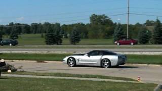 99 CHEVY CORVETTE EXHAUST BLOWN TAKING OFF