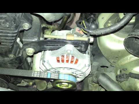 1998    Kia    Sportage Replace Alternator Belt  YouTube