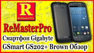 Смартфон Gigabyte GSmart GS202+ Brown Обзор