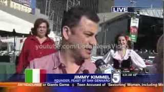 News Blooper - Aunt Chippy (Jimmy Kimmel Live) curses on Live TV