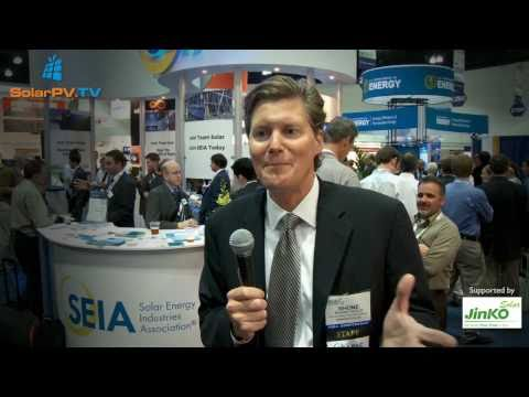 SolarPV.TV reportage from Solar Power International 2010/ Industry leaders ... and Pamela Anderson