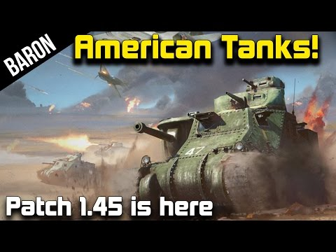 War Thunder American Tanks Gameplay - The Steel Generals!  (1.45, M3 Lee, M13, M3A1 Stuart)