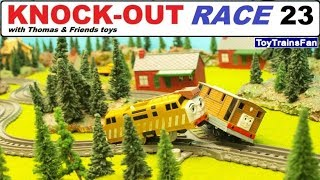 Thomas & Friends KNOCK-OUT RACE #23 - toy trains for kids. Pociągi zabawki Tomek i Przyjaciele