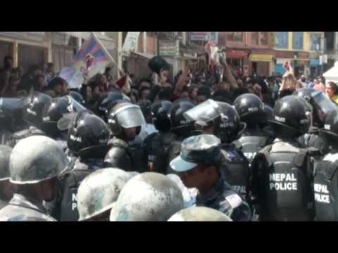 Tibetan protest in Nepal, March 10, 2010