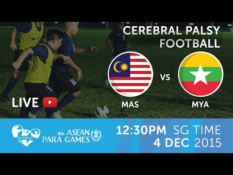 Cerebral Palsy football Malaysia vs Myanmar (Day 1) | 8th ASEAN Para Games 2015