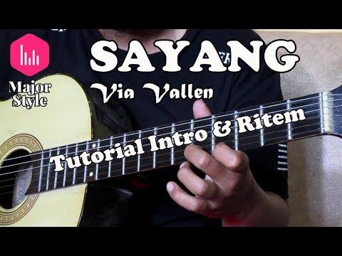 Via Vallen - Sayang | Tutorial Intro & Ritem Major Style