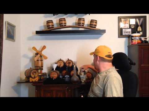 Aging Jack Daniels In Oak Barrel after Moonshiners Ole Smokey Moonshine - Red Head Oak Barrels