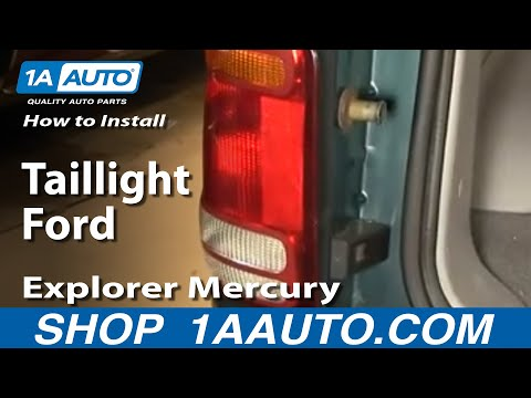 How To Install Replace Taillight Ford Explorer Mercury Mountaineer 98-01 1AAuto.com
