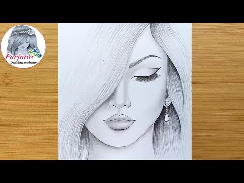 How to draw a girl step by step  Pencil Sketch drawing