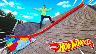 100FT HOT WHEELS RAMP OFF MY ROOF!