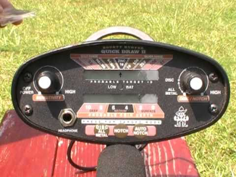 Bounty Hunter Quick Draw II Metal Detector - Demo 1