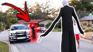 SLENDER MAN DING DONG DITCH PRANK GONE WRONG!! (Ft. JonVlogs)