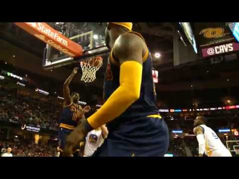 Curry's Warriors Battle James' Cavs in Super Slow-Mo