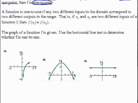 What is a Horizontal Line Horizontal Line Test 6.2