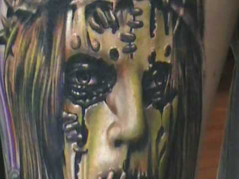 Romans slipknot Portrait tattoo