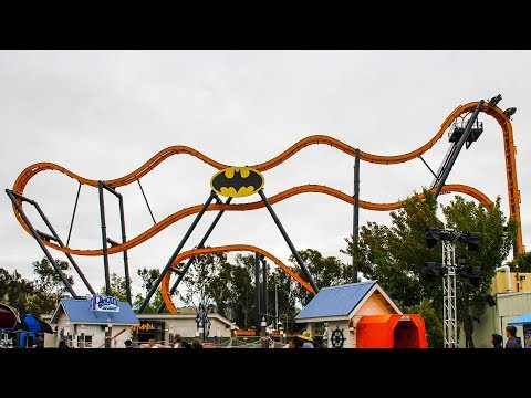Batman Roller Coaster! Crazy New Spinning Ride! Onride POV Six Flags Discovery Kingdom 2019
