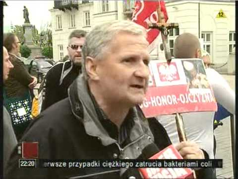 TV jaja - Polacy witają Obamę!