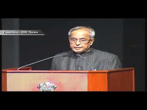 President Pranab Mukherjee presenting Krishi Karman Awards