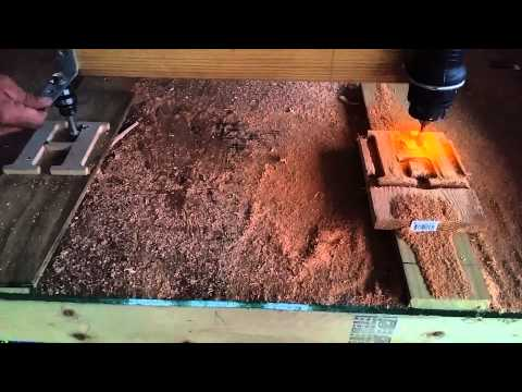 My Diy router duplicator / copy carver in action