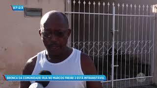 Comunidade sofre com rua intransitável em Socorro- Balanço Geral Manhã