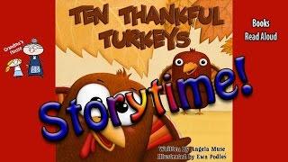 Thanksgiving Stories ~ TEN THANKFUL TURKEYS Read Aloud  ~  Bedtime Story Read Along Books