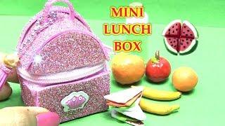Hướng Dẫn Làm Túi Đựng Đồ Ăn Trưa Mini Cho Búp Bê - ĐỒ CHƠI TRẺ - DIY MINI LUNCH BAG FOR DOLL