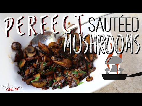Best Sautéed Mushrooms recipe by SAM THE COOKING GUY