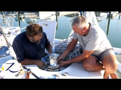 Download Boat Projects Have Begun! Upgrading our Anchor Winch Windlass Installation Ep 103 Mp4 baru