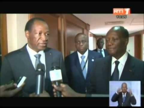 RTI- Le président Alassane OUATTARA a échangé avec son homologue du Burkina Faso