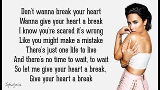 Demi Lovato - Give Your Heart a Break (Lyrics) 🎵