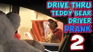 Drive Thru Teddy Bear Driver Prank 2