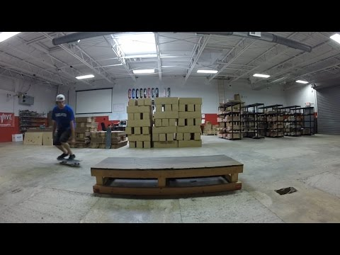 New Trick - 50-50 Back Foot Late Flip Out - Alex Buening