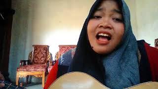 Gadis hijab cantik nyanyi lagu anji menunggu kamu suaranya wow
