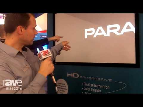 ISE 2016: Projecta Shows Off the Parallax Products to Show How Ambient Light Affects Projection