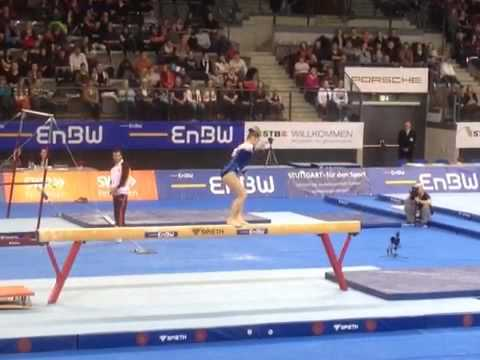 Aliya Mustafina (RUS) BB - 2012 Stuttgart World Cup Team Finals