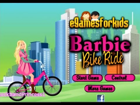 Car Bike Games For Kids Barbie Bike Riding Play Kids