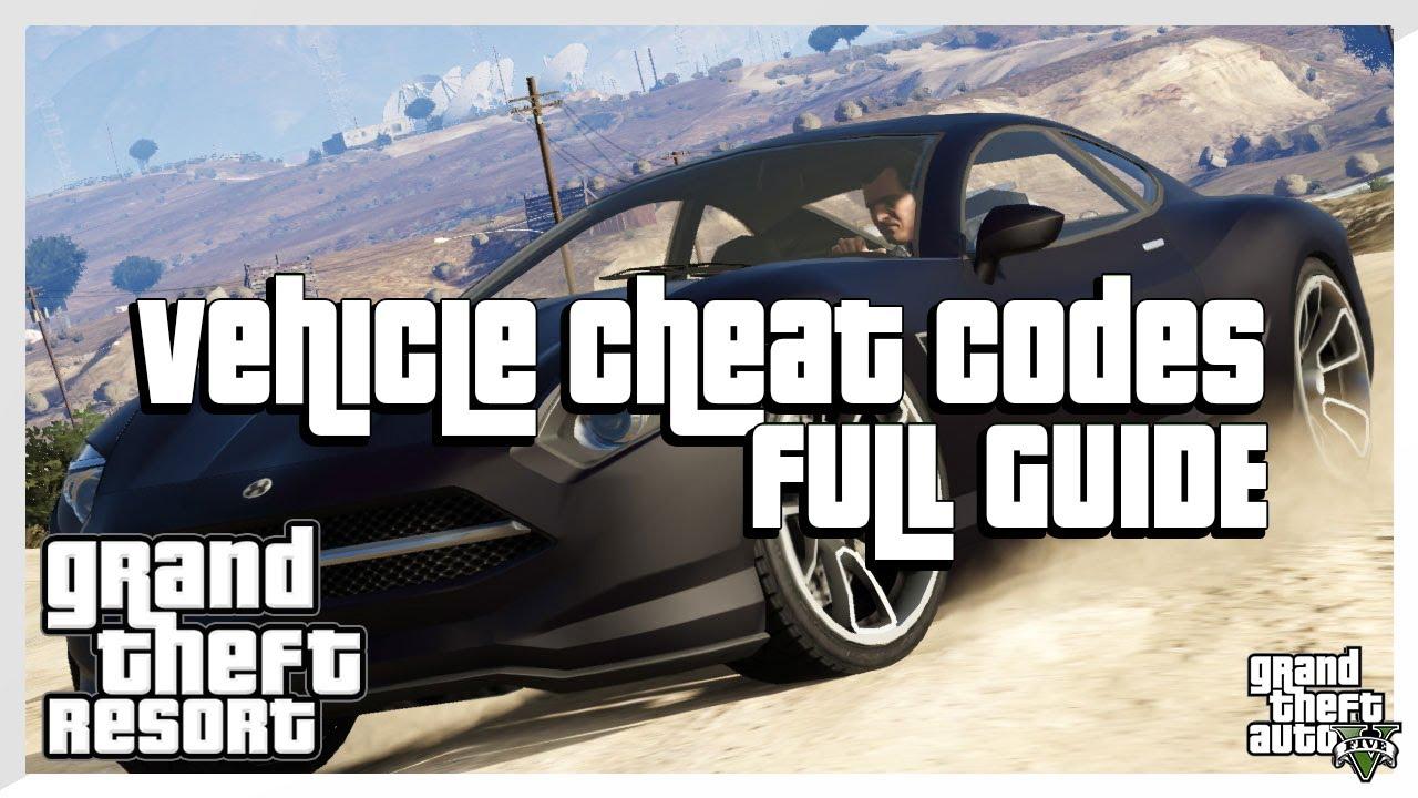 GTA 5 CHEATS - ALL Vehicle Spawn Cheat Codes (Grand Theft ...
