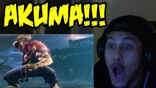 AKUMA MATATA! Street Fighter V Akuma Trailer REACTION!!!