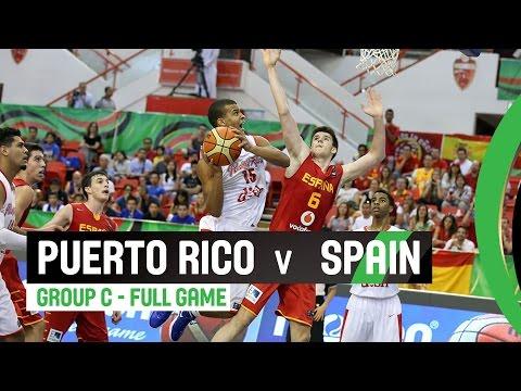 Puerto Rico v Spain - Group C Full Game - 2014 FIBA U17 World Championship