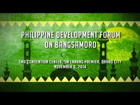 Philippine Development Forum on Bangsamoro 11/6/2014