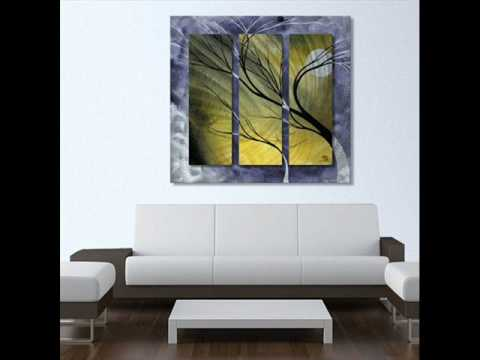 Glowing Moonlight With Tree Profile Metal Wall Art Decor Hanging.wmv